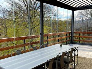 vetrata panoramica scorrevole balconi