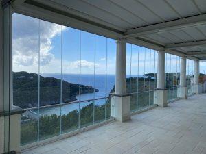 vetrata panoramica portico balcone