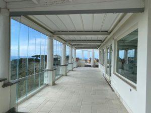 vetrata scorrevole portico balcone