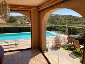 vetrata trasparente su misura esterni balconi terrazzi verande giardini