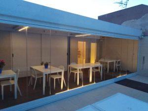 vetrata panoramica impacchettabile veranda