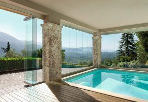 vetrata panoramica impacchettabile piscina