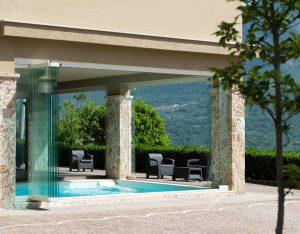 vetrata panoramica impacchettabile portico