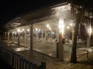 vetrata panoramica impacchettabile ristorante
