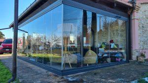 giardino d'inverno vetro a scomparsa