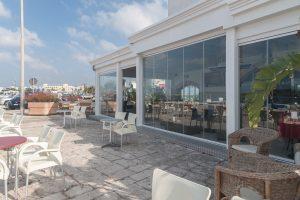 vetrata panoramica hotel ristorante